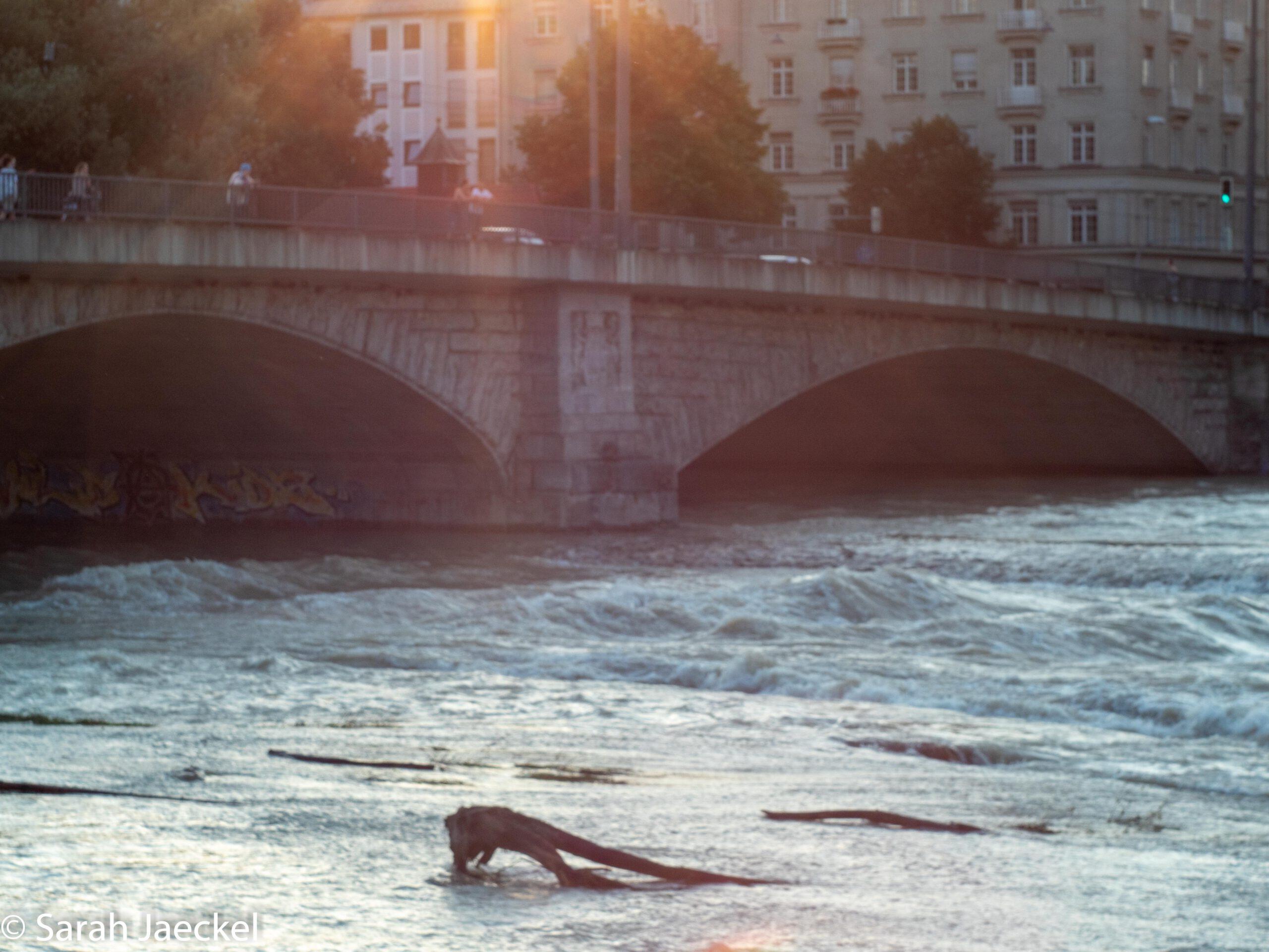 Munich flood bridge