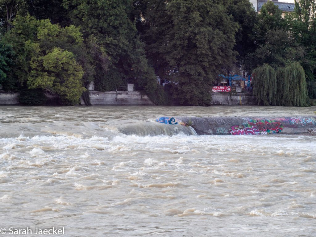 Munich flood river