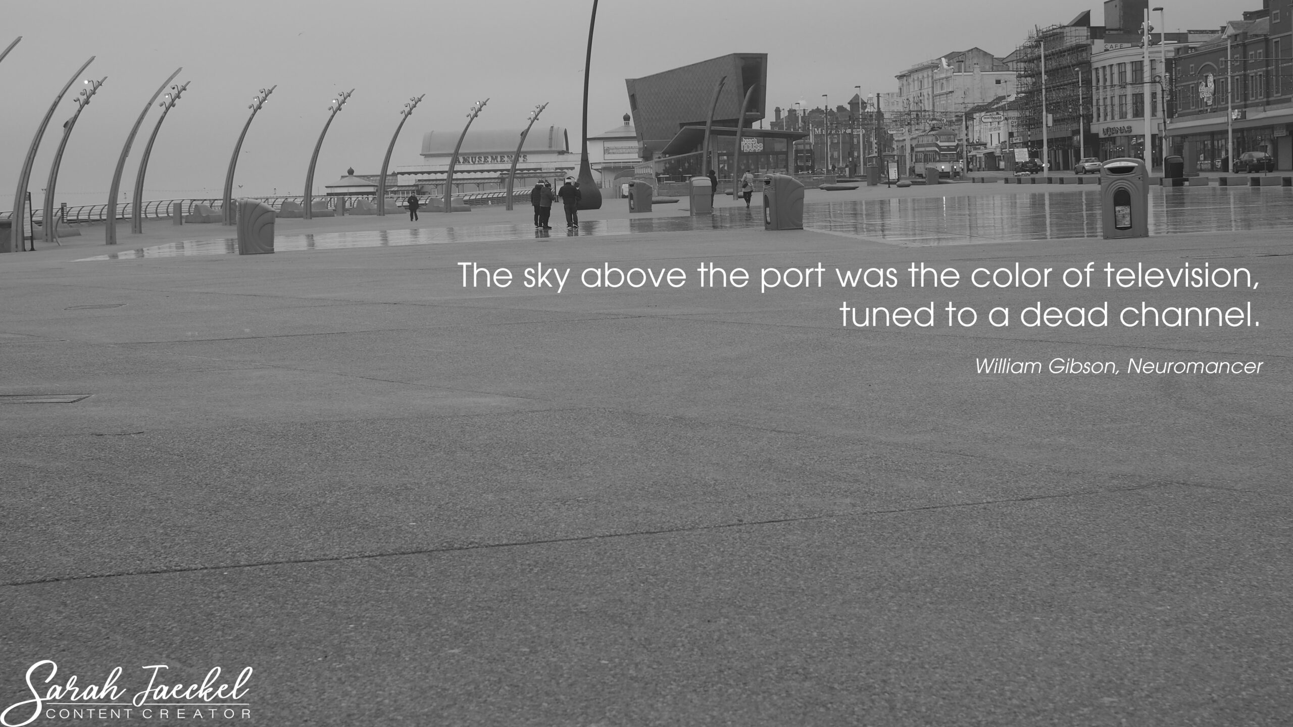 the sky over the port